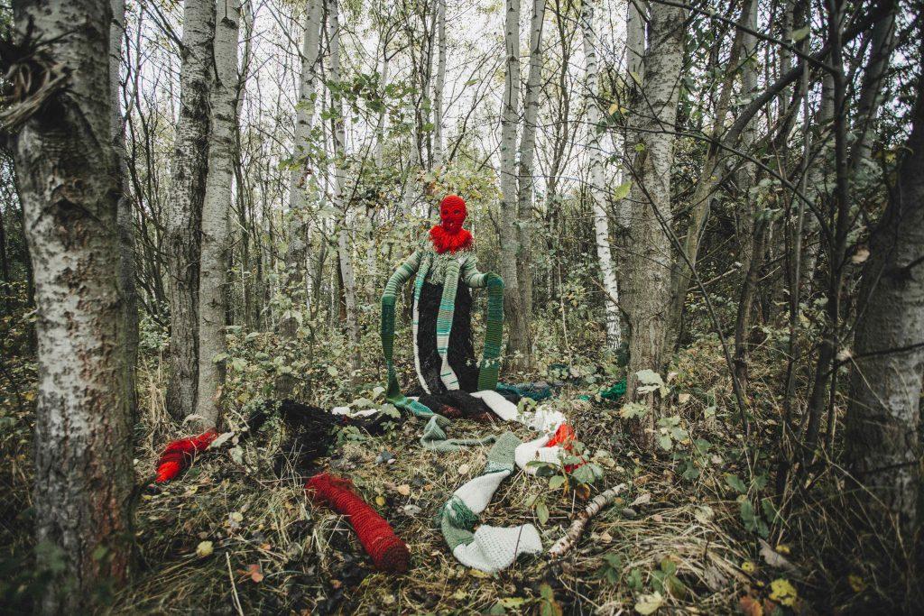 "Malgorzata Markiewicz, ""Medusa: Sensing-With and Thinking-With the World,"" 2021. Print on textile. Photo by Grzesiek Mart"