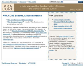 Visual Resources Association VRA CORE