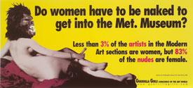 Guerrilla Girls Metropolitan Museum