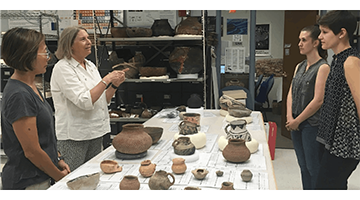 Dr. Nancy Odegaard discusses a strategy of pottery condition reporting with interns as a type of triage, or assignment of conservation treatments based on the types of damage or documentation need when a large volume of vessels are involved. The annual activity known as the Pottery Blitz has been a regular summer activity for many years at the Arizona State Museum.